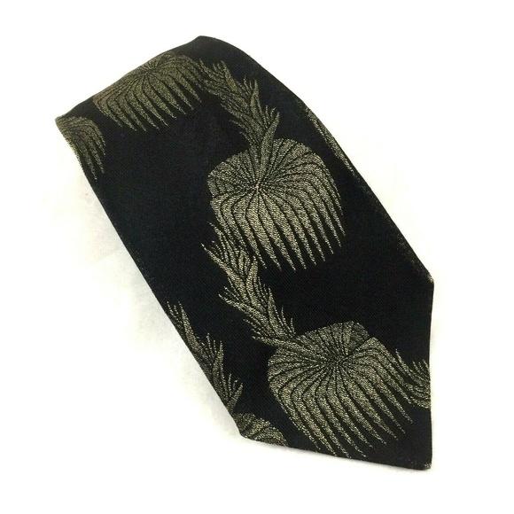 Jean Paul Gaultier Other - Jean Paul Gaultier Paris Tie Black Gold 100% Silk